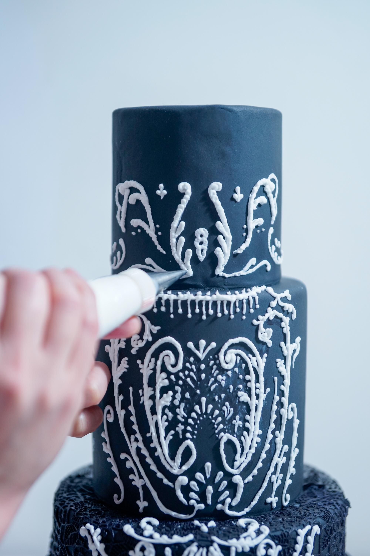 Black Lace Wedding Cake Cake Masters Magazine India